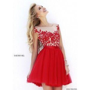 Sherri Hill 11171 - Royal Embroidered Short Dress - RissyRoos.com