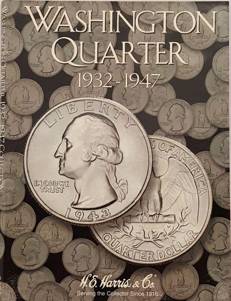 Washington Quarter 1932-1947 Coin Collecting Album