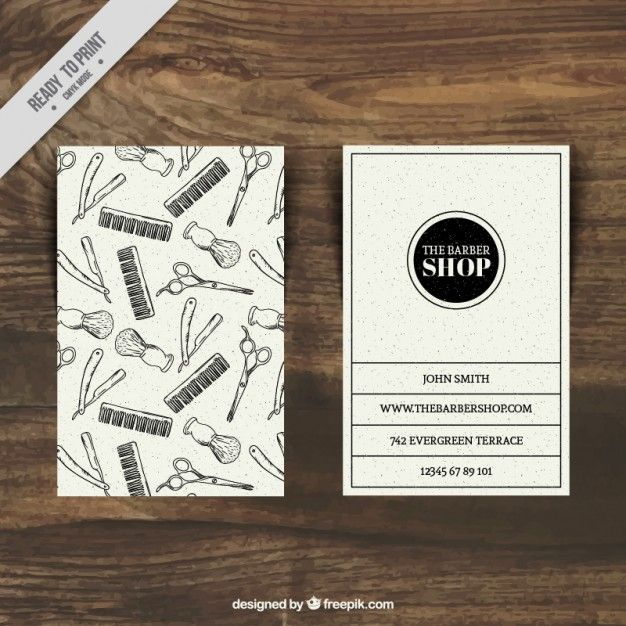 29 best exclusive cuts images on pinterest business cards barber sketches barber shop card template free vector wajeb Images