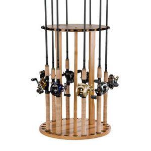 Fishing pole storage carousel