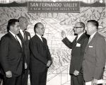 Seymour Mann, President of the Industrial Association of the San Fernando Valley, reports on new...
