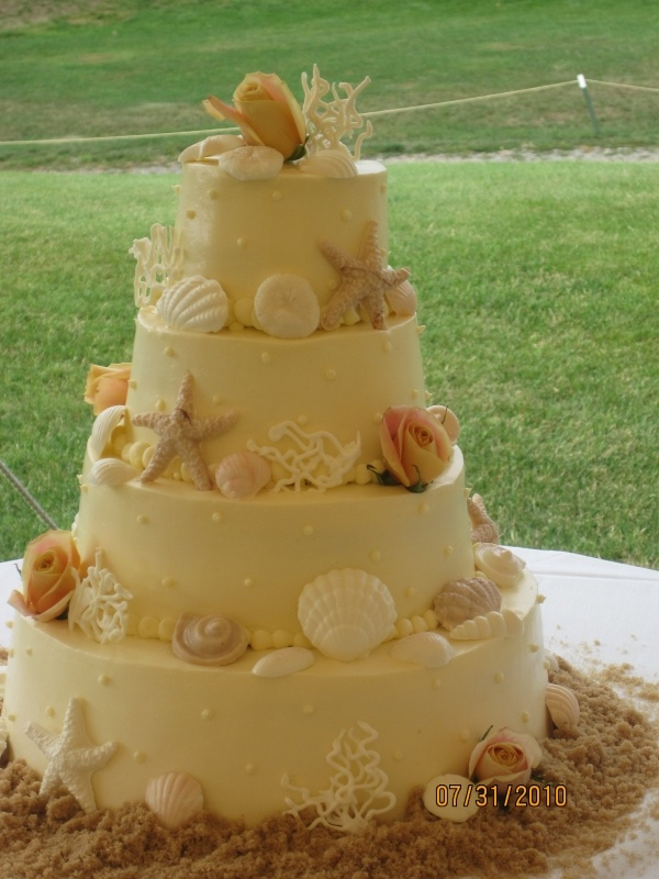 sea shell wedding cake must have for our 10th anniversary party pretty things pinterest. Black Bedroom Furniture Sets. Home Design Ideas