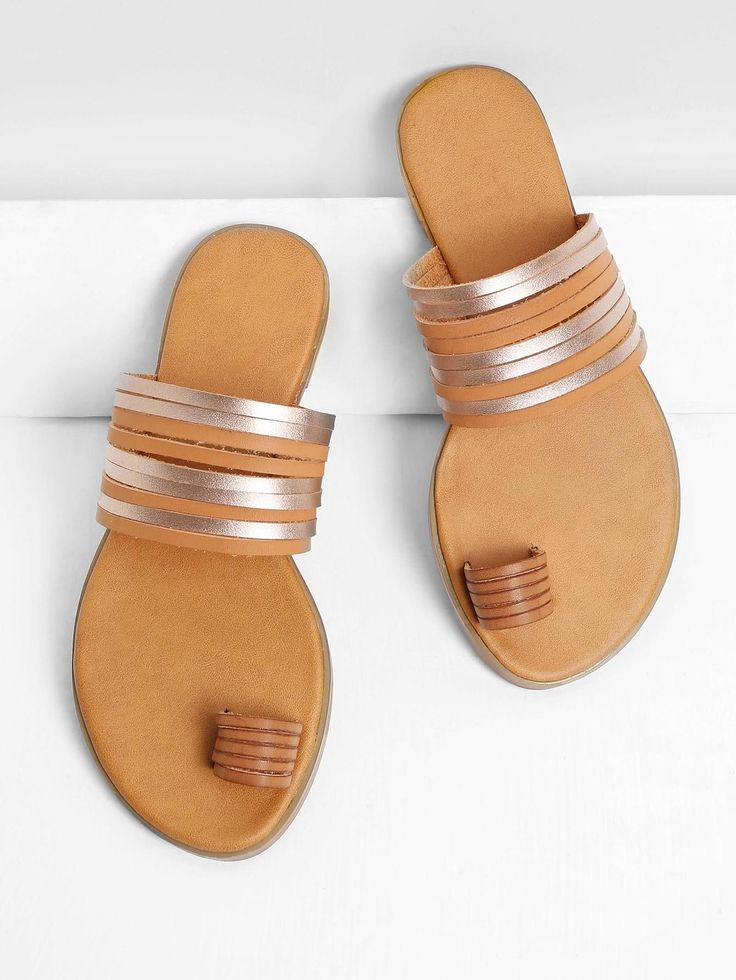 Shop Metallic Strappy Toe Ring Sandals online. SheIn offers Metallic Strappy Toe Ring Sandals & more to fit your fashionable needs.