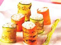 Cantinho Vegetariano: Sushi de Abobrinha e Cenoura (vegana)