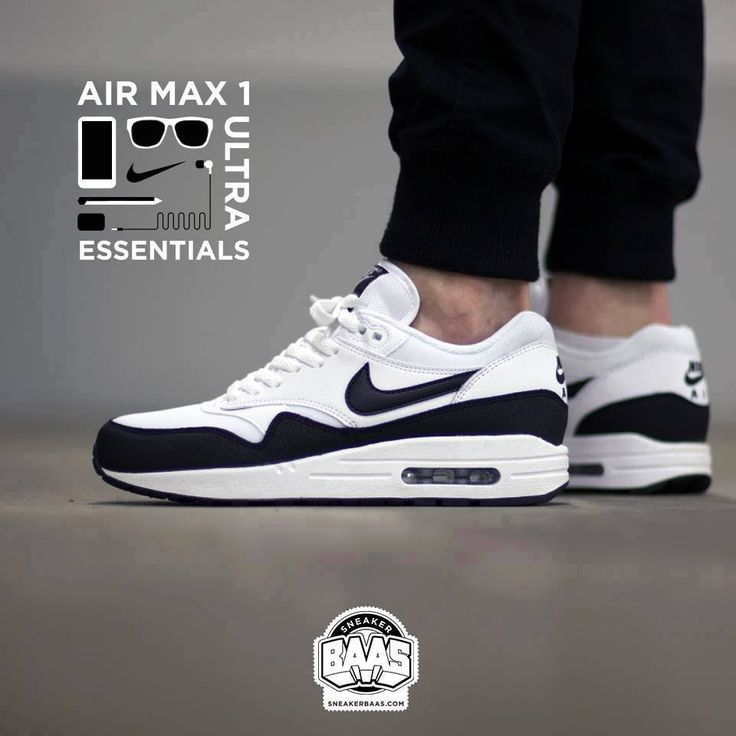 "#nike #air #airmaxone #nikeair #sneakerbaas #baasbovenbaas Nike Air Max 1 ""Black & White"" - Now available - Priced at 134.99 Euro  For more info about your order please send an e-mail to webshop #sneakerbaas.com!"