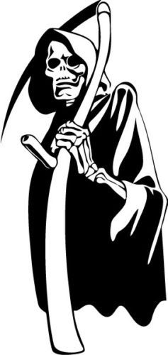 Grim-Reaper-A57-Halloween-Scary-Vinyl-Decal-Sticker-Car-Window-Wall Pick color & size