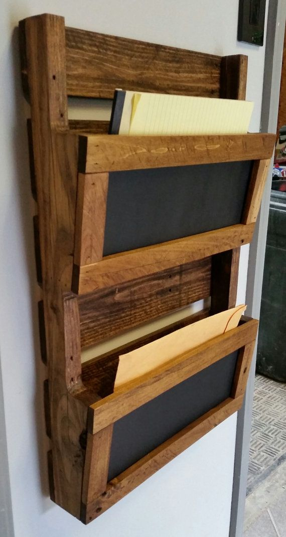 Reclaimed Pallet Wood 2 Pocket Vertical Wall by AJSCreationsCo