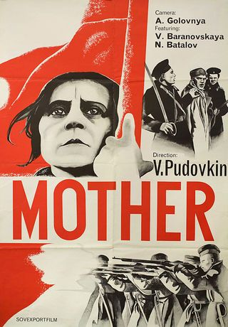 Mother R1970s Russian A0 Poster
