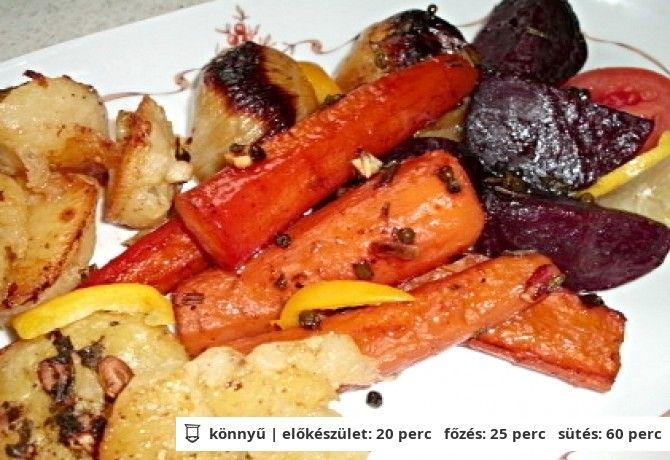 Sült zöldség és krumpli