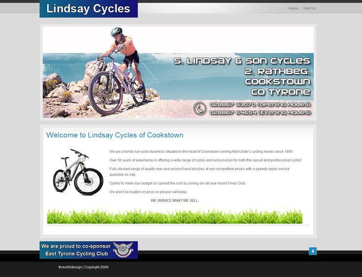 Lindsay Cycles - three60design Banbridge Northern Ireland - Web Design