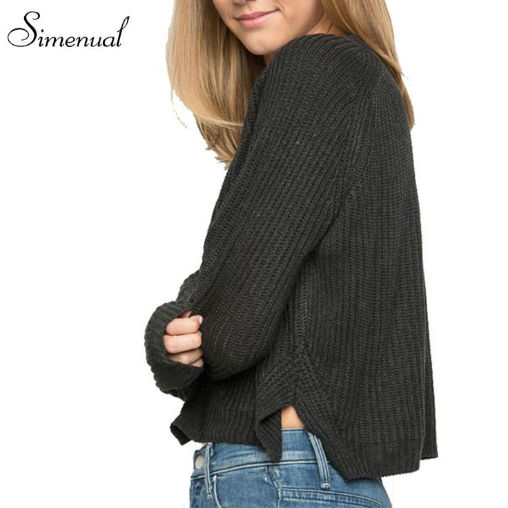 New arrival autumn winter 2016 women sweaters and pullovers hot sale solid slim knitted jumpers crop sweater women's clothing #Affiliate