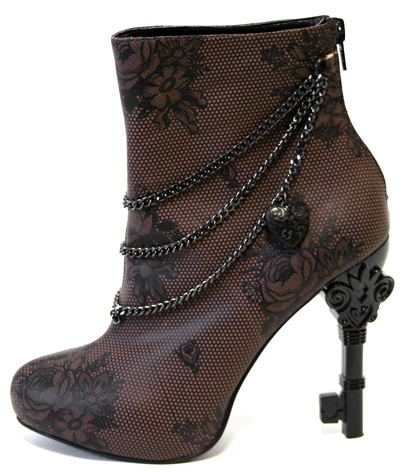 """Steampunk Boot"" so cute. The heel's a key!! <3"
