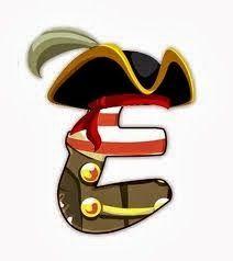 Oh my Alfabetos!: Letras sueltas caracterizadas con el tema de piratas y marinero.