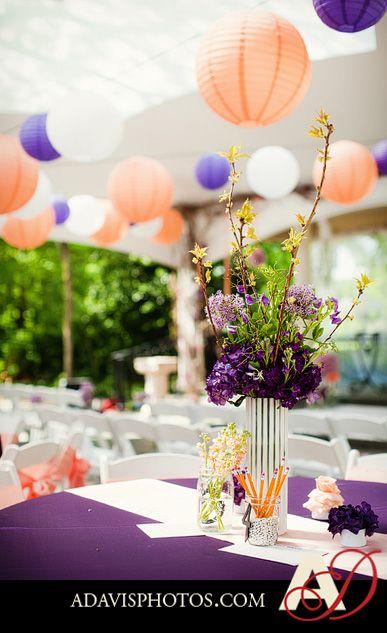 purple and peach (spring wedding)