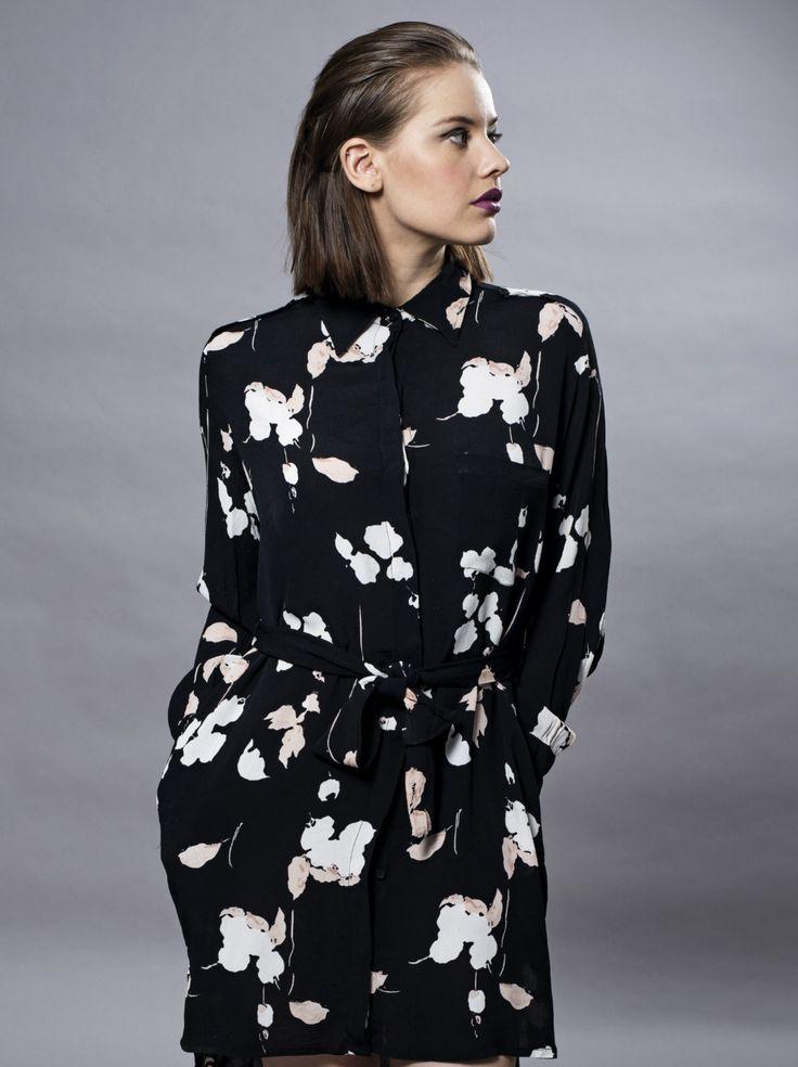 MISSMAYA Sia Dress Black Flower
