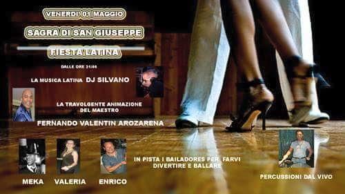 Vieni alla Fiesta Latina, venerdì 1 Maggio. #festaSanGiuseppe di Vicenza, zona Mercato Nuovo.