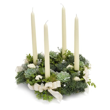 Hvid adventskrans