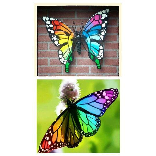 Rainbow butterfly  Www.creativeartbyjessica.nl