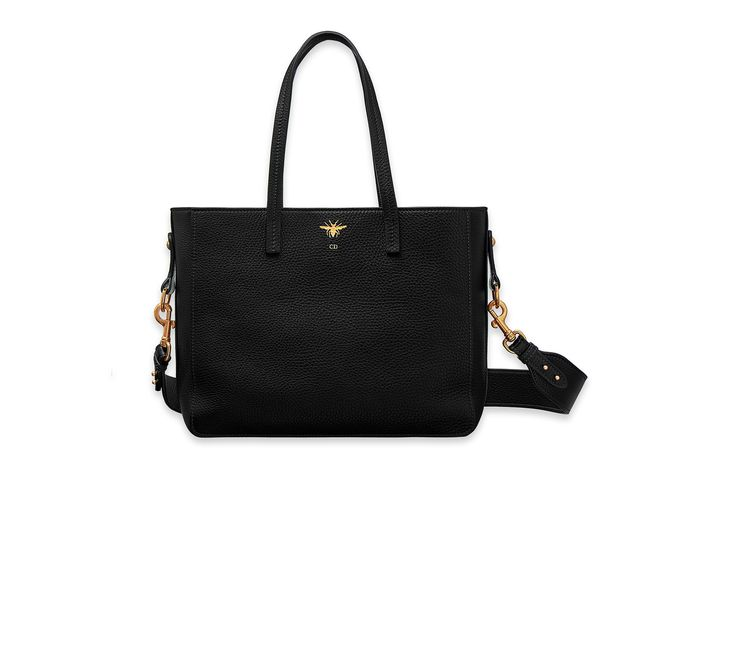 """d-bee"" shopping bag in black grained - Dior"