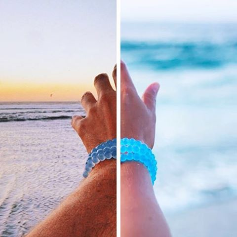 We're back and brighter! Last year (left), the Lokai community funded 33 wells with @charitywater. How many wells can we build together with the new Water Lokai (right)?! @waterproject