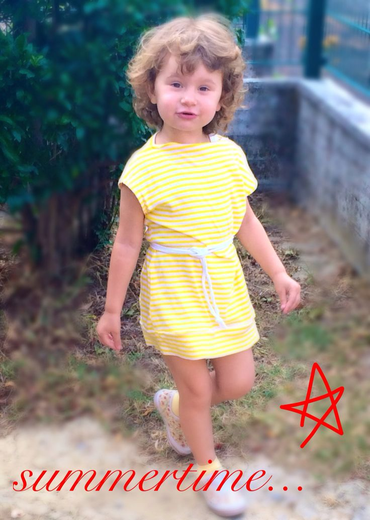 Yellow summer dress, I love stripes