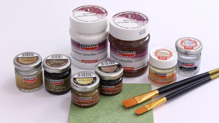 Finomvonalas repesztőlakk // Fineline crackle varnish