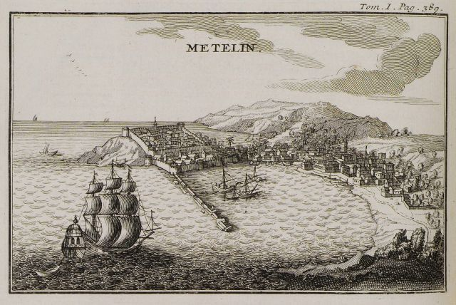 The port of Mytilene, 1717