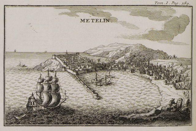 The port of Mytilene, 1717