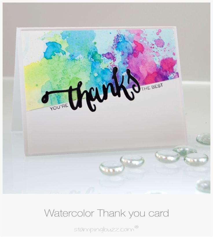 Pinned because: simple design, colorful, Brusho inspiration