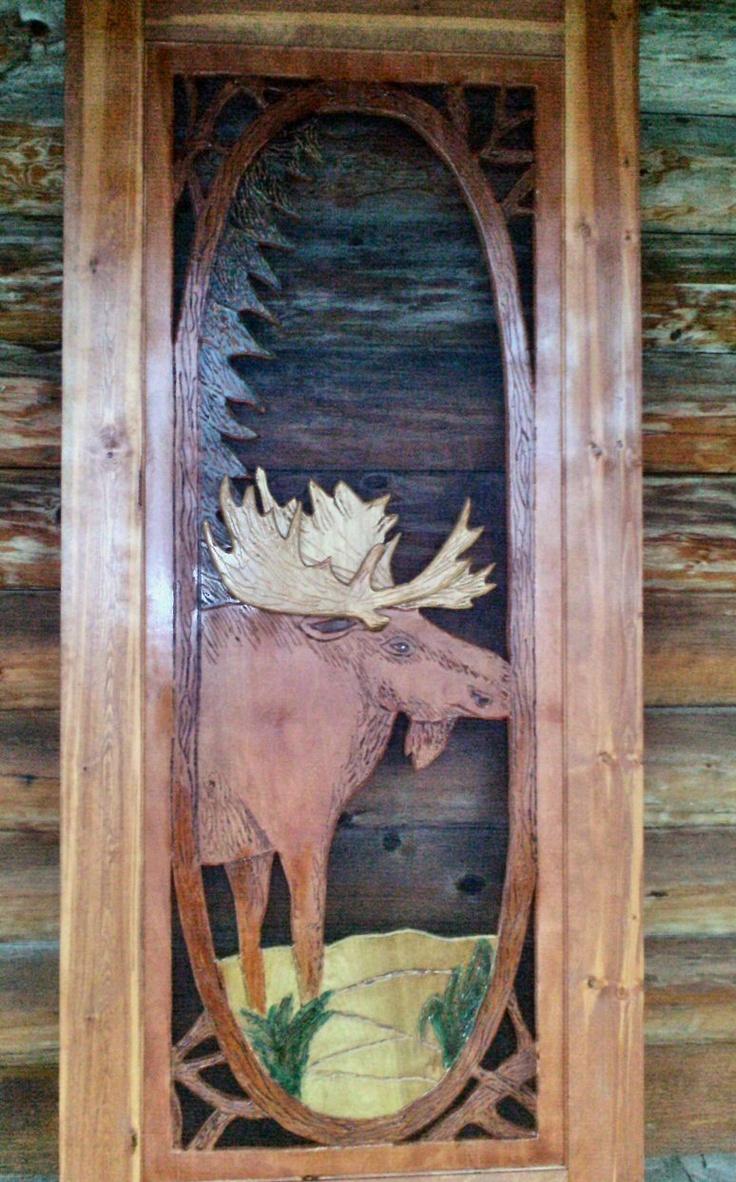36 best carved wood doormoose images on pinterest wood doors adirondack twigs and moose screen door north country rustics vtopaller Choice Image