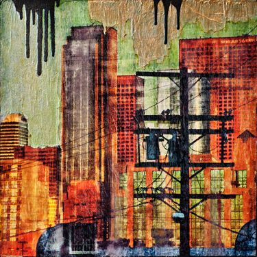 "Saatchi Art Artist Anyes Galleani; Collage, ""Urban View"" #art"