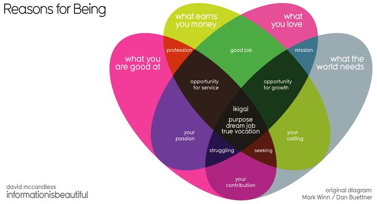 Ikigai - Visualizing the Japanese Concept of Life's Purpose