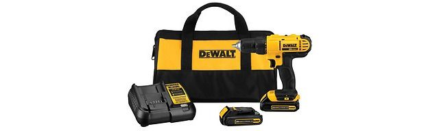 DEWALT 20-Volt Max Lithium Ion (Li-ion) 1/2-in Cordless Drill with Battery and Soft Case $34.98 (lowes.com)
