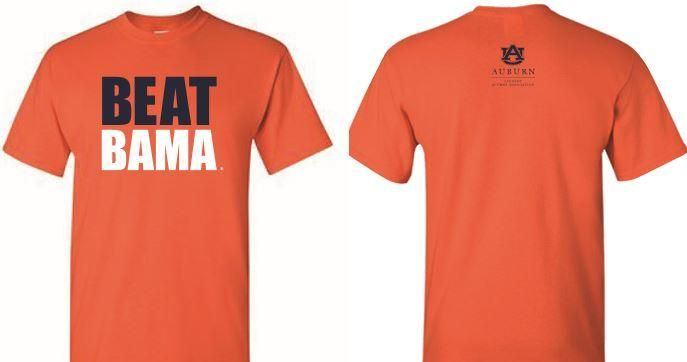 Help students attend Auburn by supporting the Student Alumni Association Scholarship. Show your spirit and your support today by buying a beat Bama t-shirt to receive it in time for the game!