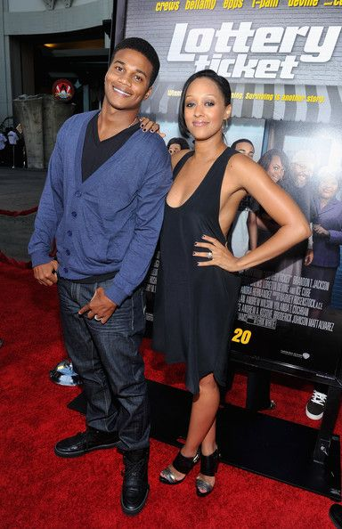 "Tia Mowry and Cory Hardrict Photo - Premiere Of Warner Bros. ""Lottery Ticket"" - Arrivals"