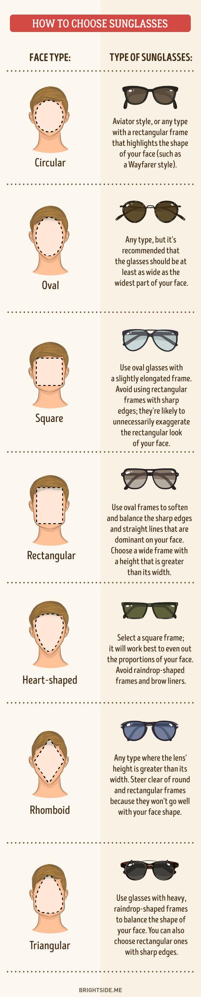 Kies je type zonnebril.