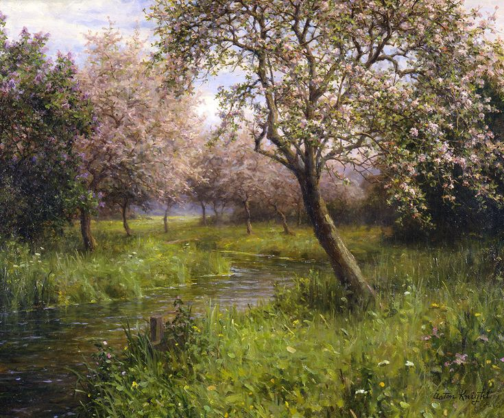 Louis Aston Knight (1873 - 1948) Apple Blossoms
