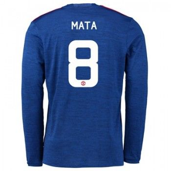 Manchester United 16-17 Juan Mata 8 Bortatröja Långärmad   #Billiga  #fotbollströjor