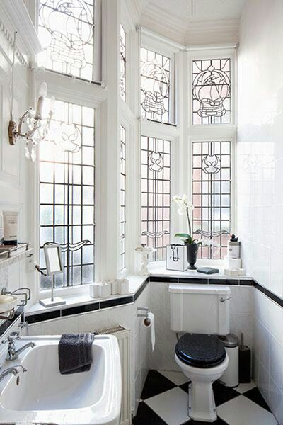 Love the natural light yet frosted windows