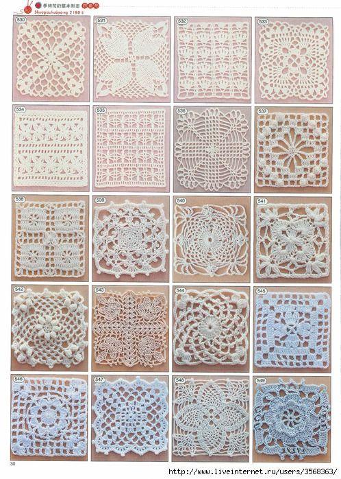 Letras e Artes da Lalá: Quadradinhos de crochê/squares (fotos: pinterest)