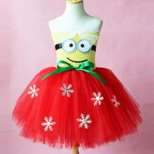 despicable me minion 2 monster jurk prinses tutu jurk kerst baby meisje jurk