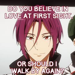 ((Yes, yes, I believe in that Rin- But it would be nice if you could walk by again.))