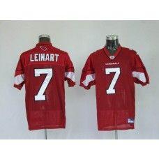 Cardinals #7 Matt Leinart Red Stitched NFL Jersey