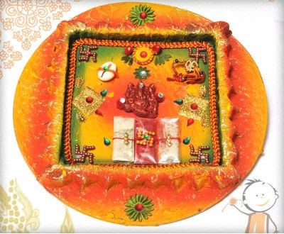 Rakhi Thali - buy online #decorated #rakhi #thali Handcrafted Traditional Square Rakhi Thali, surprise your loved ones with roli chawal,chocolates and a greeting card as it is also a part of our. http://www.bablarakhi.com/send-rakhi-thali-online/551-send-handcrafted-traditional-square-rakhi-thali-online.html