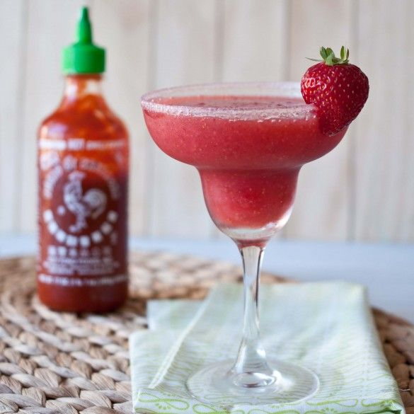 Strawberry Sriracha Margarita