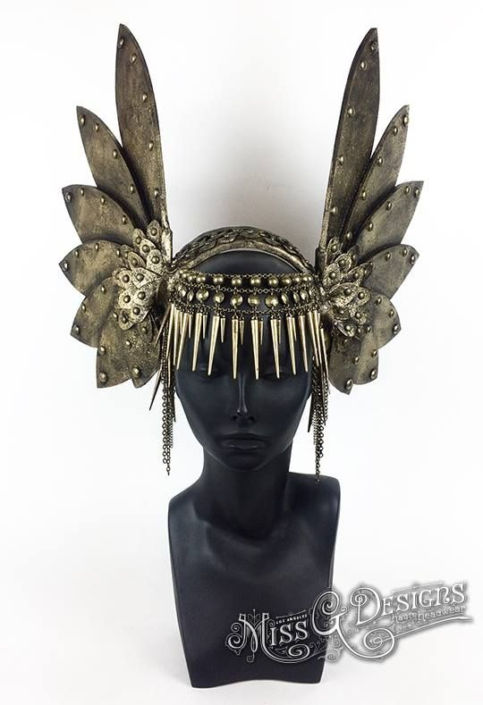 Valkyrie Headdress by Miss G Designs  etsy.com/shop/MissGDesignsShop  headpiece crown warrior wings armor