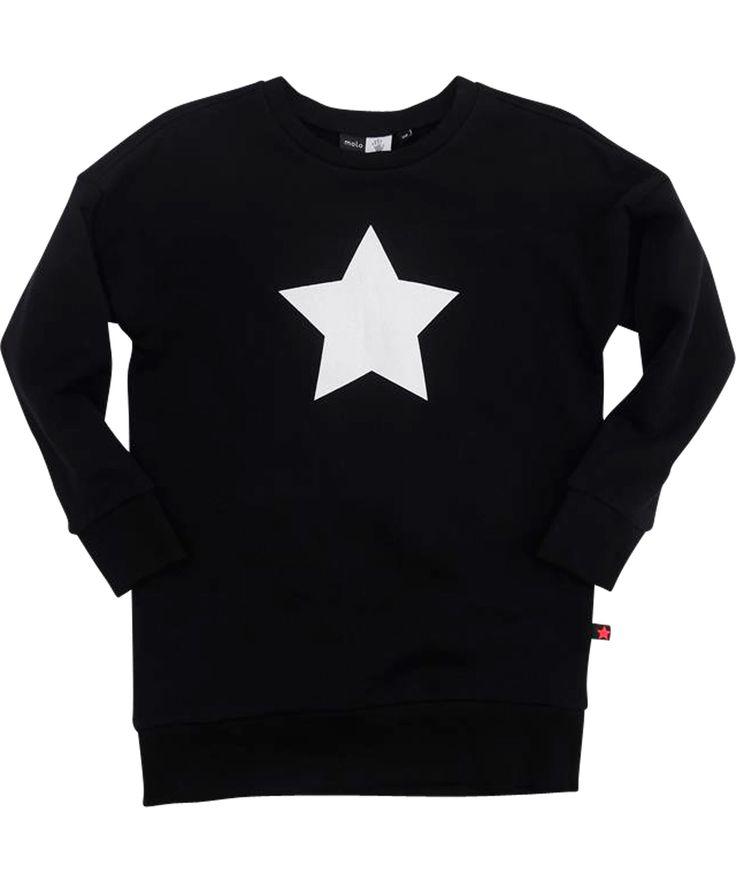 Molo zwarte tuniek trui met grote zilveren ster. molo.nl.emilea.be