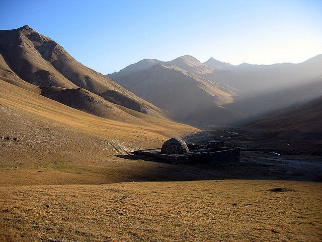 Dawn breaks over the Tash Rabat Caravanserai, an ancient Silk Road stopover, high in the Tian Shan, back in Kyrgyzstan