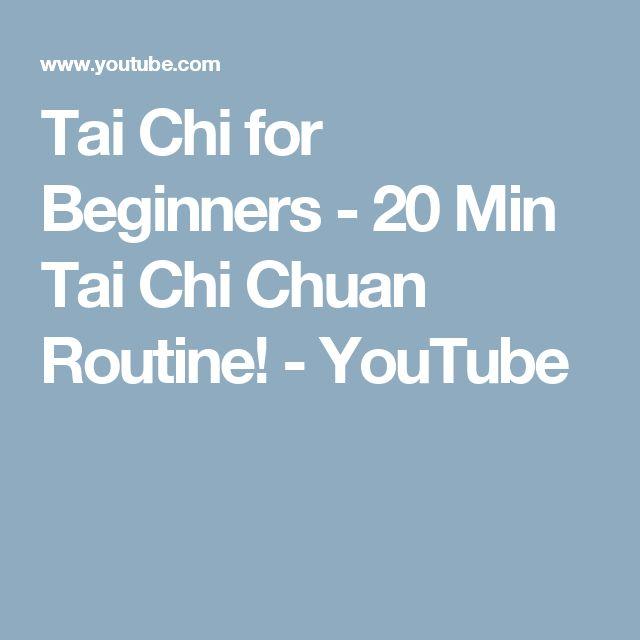Tai Chi for Beginners - 20 Min Tai Chi Chuan Routine! - YouTube