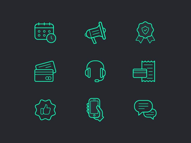 Business icon set by Anna Koba - Dribbble